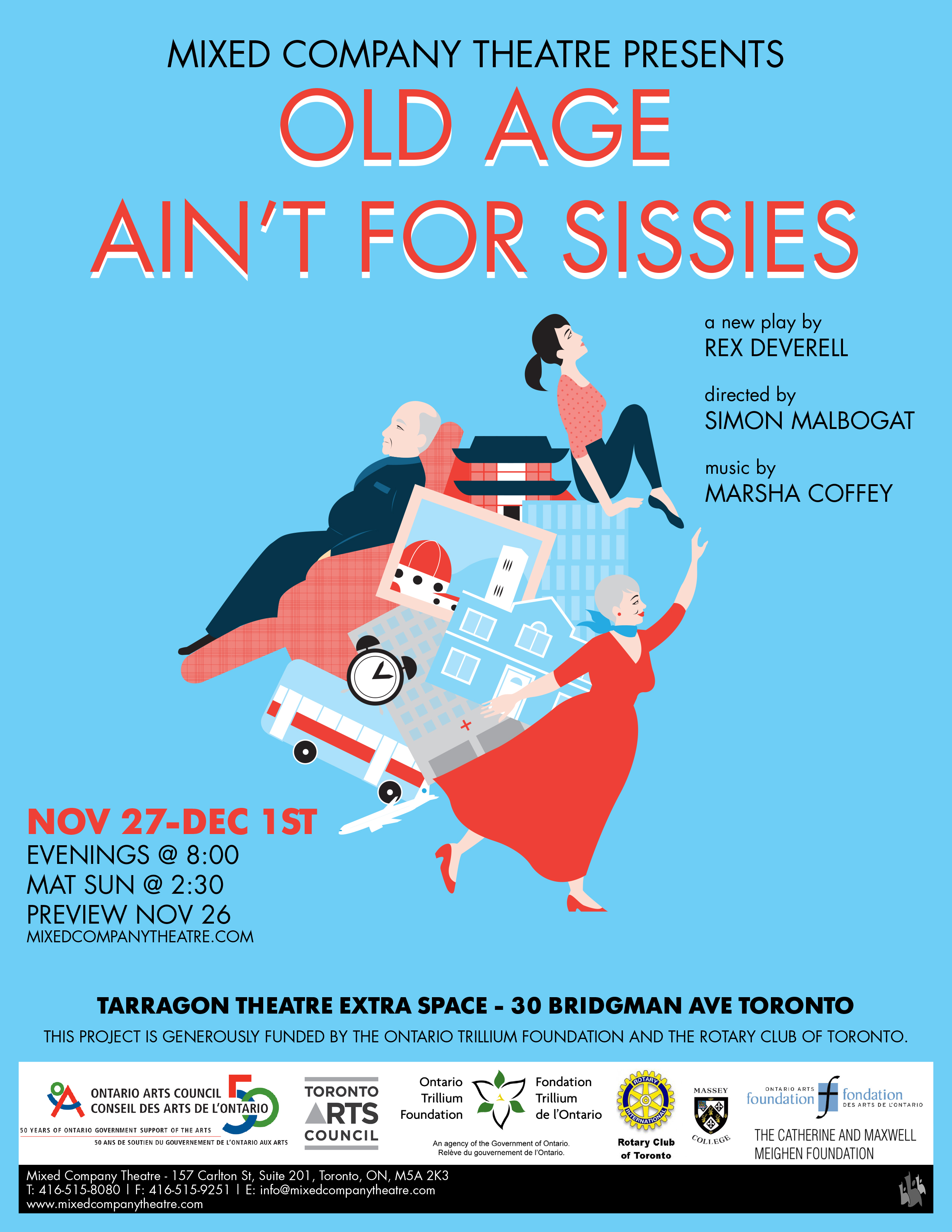 Mixed Company Theatre - Old Age Aint for Sissies Poster